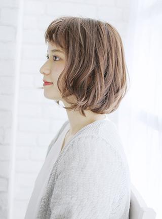 ミックスワンカール×シア―ベージュ☆